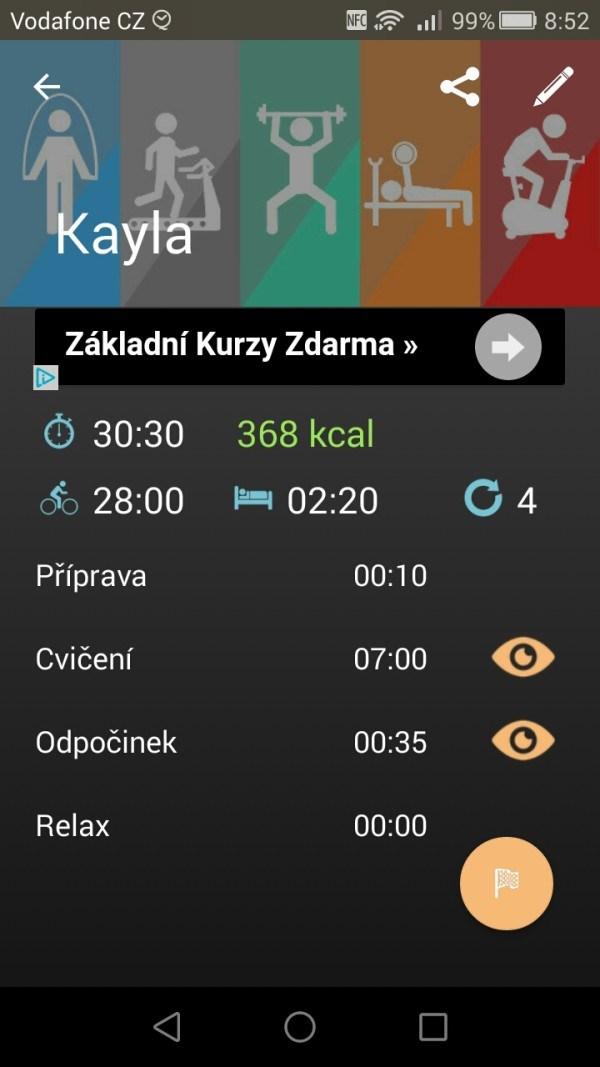 Intervalový časovač pro Kaylu